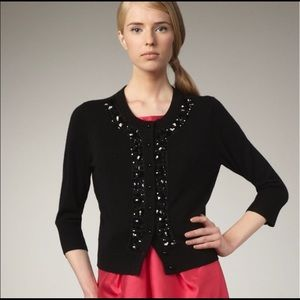 Kate Spade Black Embellished Jeweled Cardigan